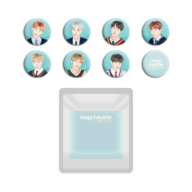 BTS JAPAN OFFICIAL FANMEETING VOL.4 ~Happy Ever After~  LUCKY DRAW(CAN BADGE)